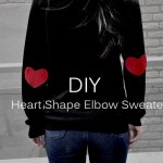 DIY :: Heart Shape Elbow Sweater