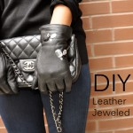 DIY :: Jeweled Leather Gloves