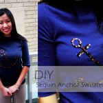 DIY :: Sequin Anchor Sweater