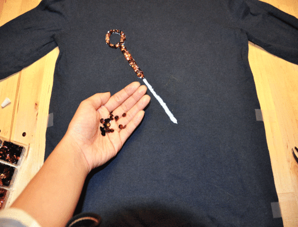 DIY Sequin Anchor Sweater - Step 3