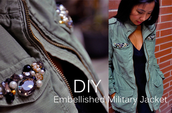 DIY Embellished Military Jacket