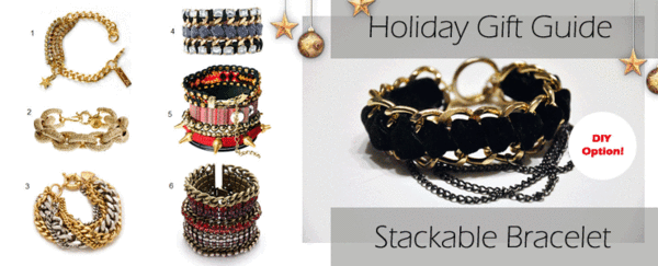 DIY Holiday Gift Guide: Stackable Chain Bracelet
