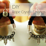 DIY :: Rope Crystal Earrings