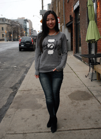 Street Style Animal Sweater DIY