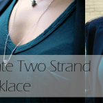 DIY :: Delicate Two Strand Spike Necklace