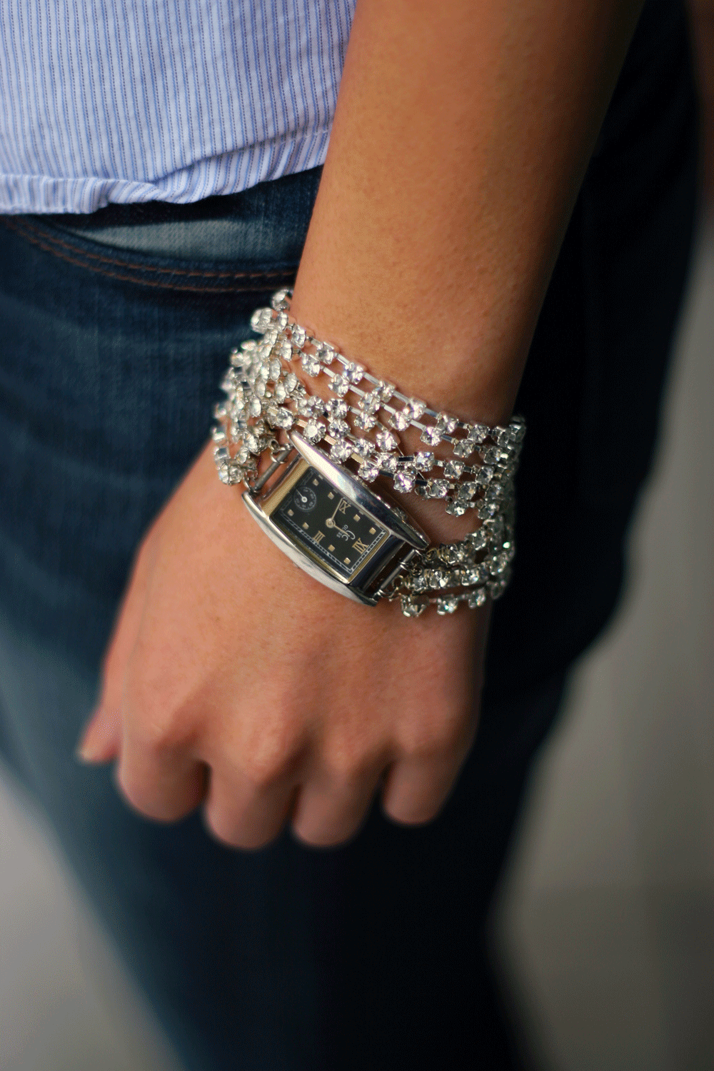 diy watch, diy rhinestone watch