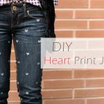 DIY :: Heart Print Jeans