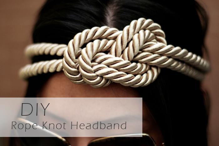 DIY Rope Knot Headband, DIY coachella, what to wear to coachella