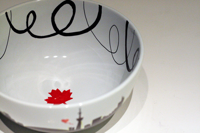 DIY Canada, Toronto Skyline, Bowls for Beds Charity Event, DIY Hand Drawn Bowl, DIY Bowl, Sharpies