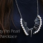 DIY :: Safety Pin Pearl Fan Necklace