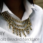 DIY :: Gold Beaded Necklace