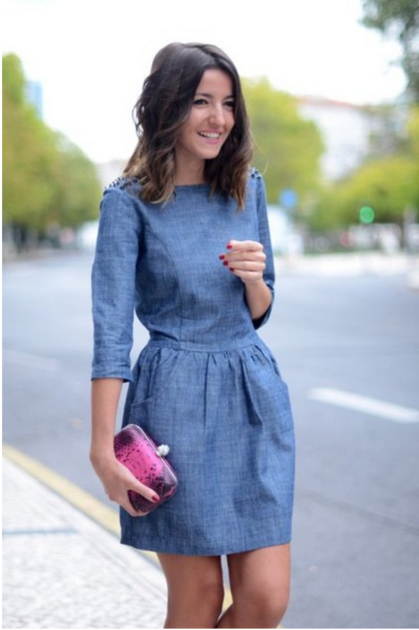 DIY inspiration denim dress