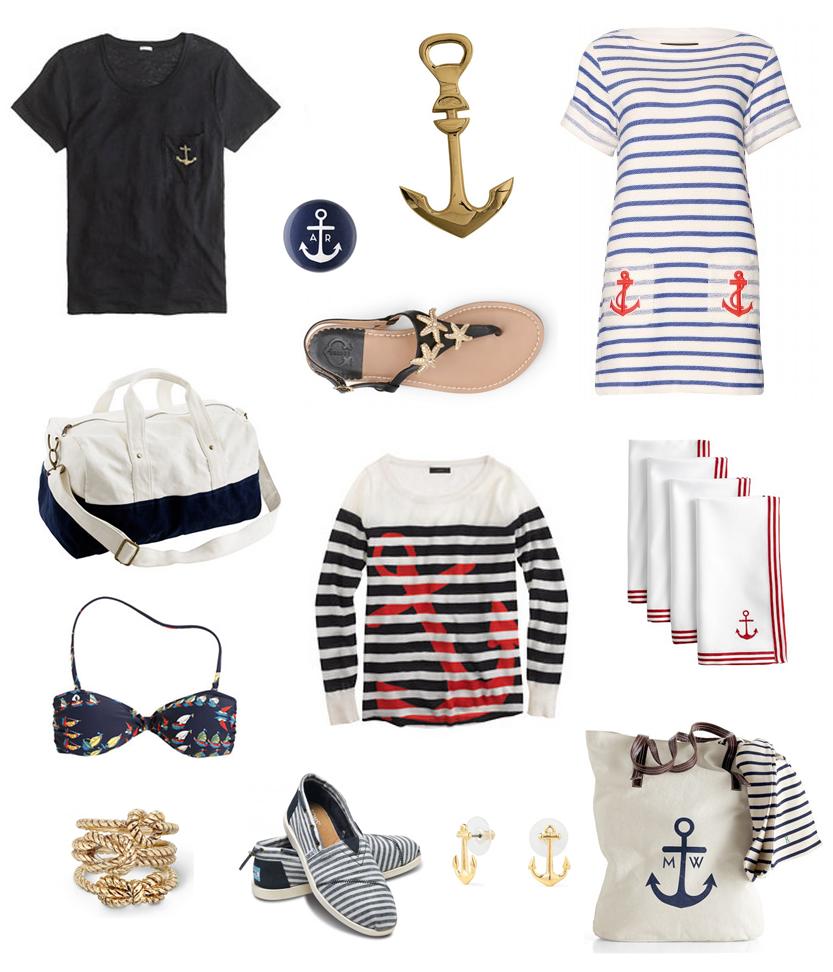 nautical fashion, nautical style, anchor fashion, sailing fashion, stripes fashion, anchor style, boating fashion, boating style