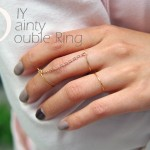 DIY :: Dainty Double Ring