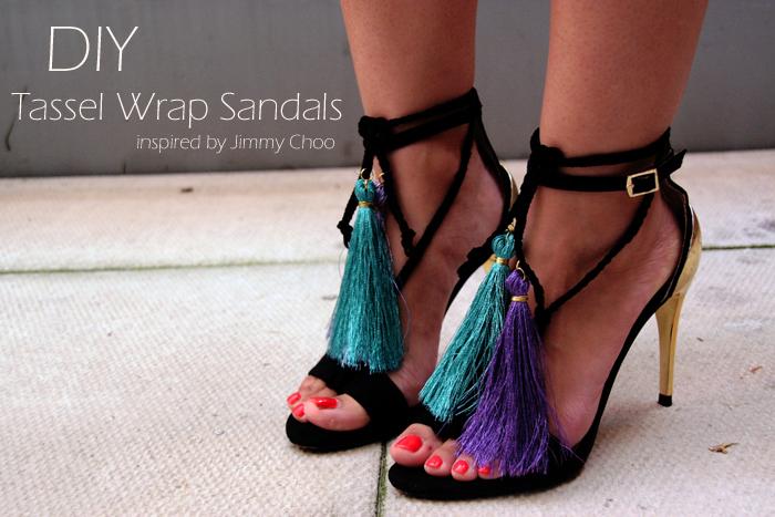 DIY Jimmy Choo Tassel Sandals