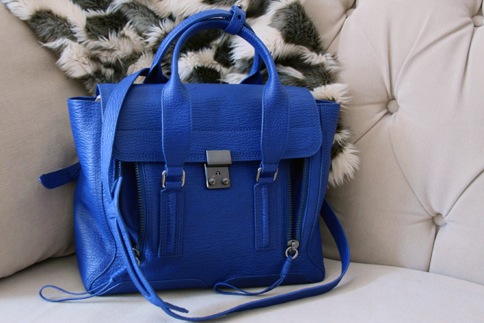 cobalt blue medium pashli satchel