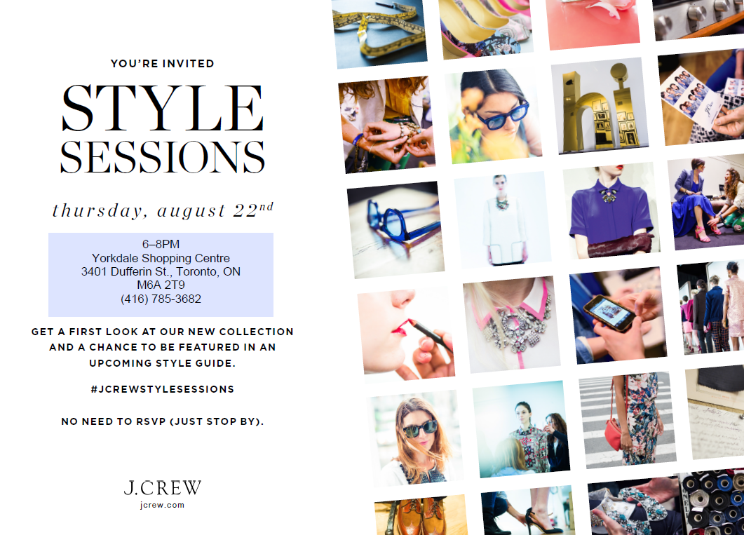 J.Crew Yorkdale Style Sessions, J.Crew Yorkdale Mall