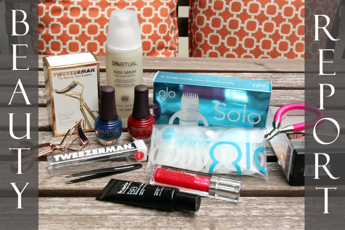 Beauty Report, beauty finds, new beauty products, tweezerman, Sparitual, Dr. Jart, Glo Science, Glo whitening.