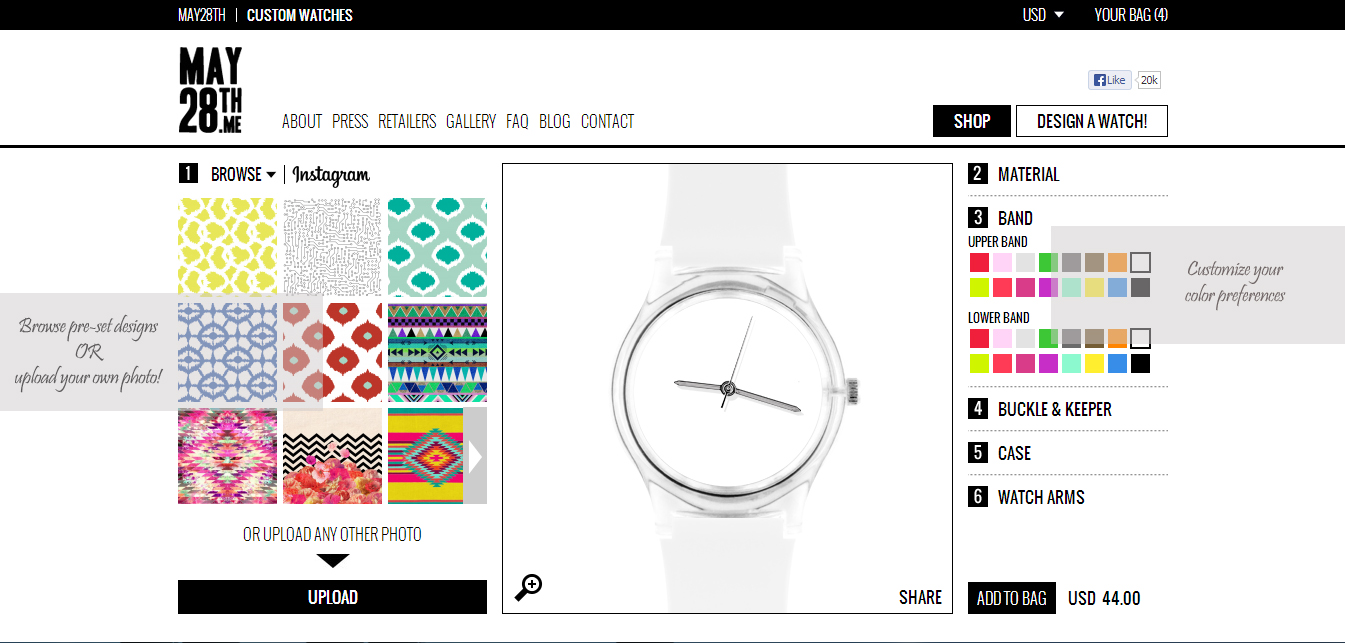 may28th watch, may28th design your own watch, diy watch, customize watches, make your own watch