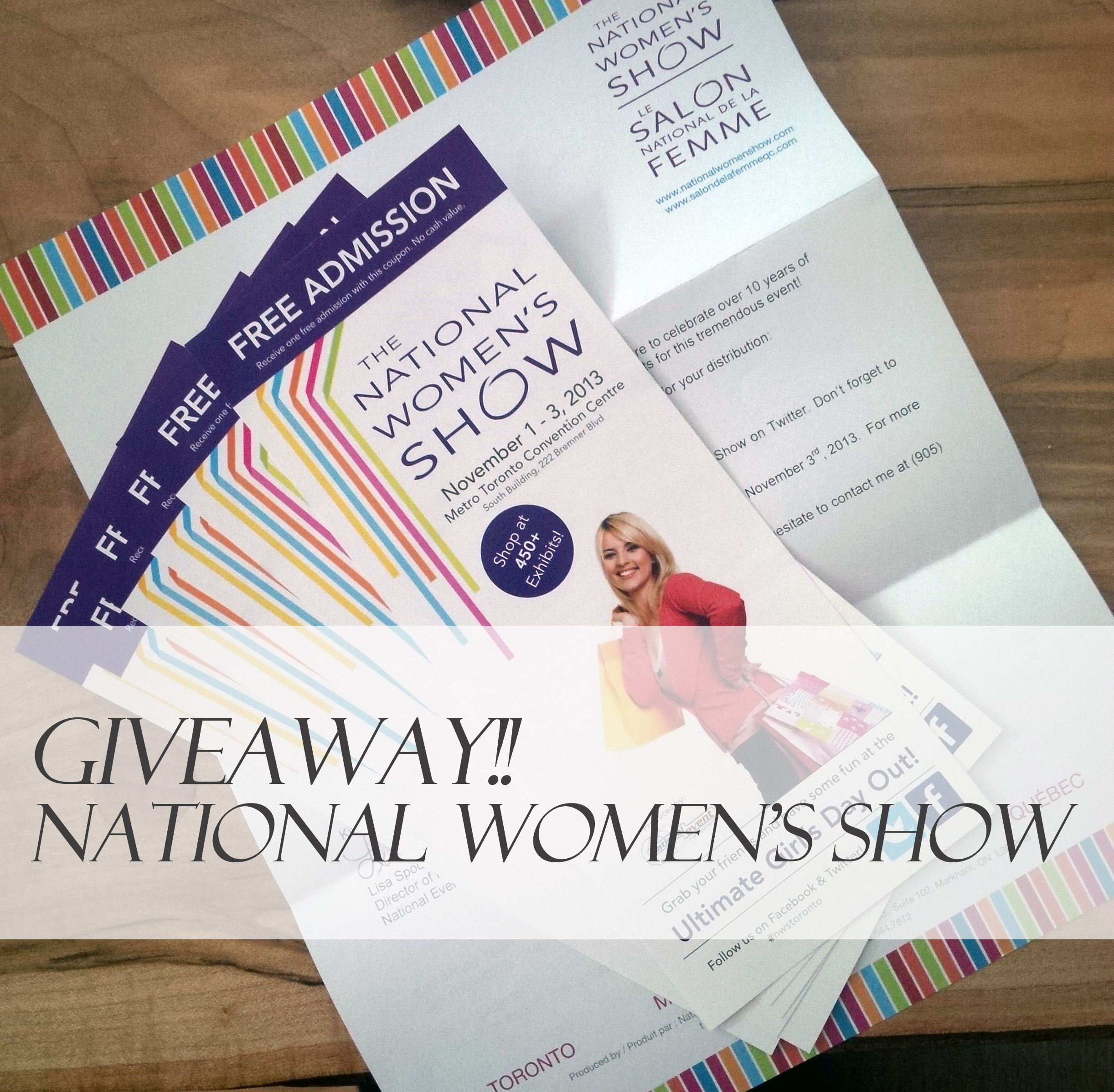 The National Women's Show Free Tickets, The National Women's Show Givewaway