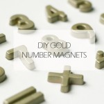DIY :: Gold Number Magnets