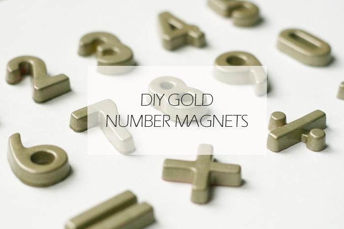 DIY Gold Number Magnets, DIY magnets, DIY alphabet magnets