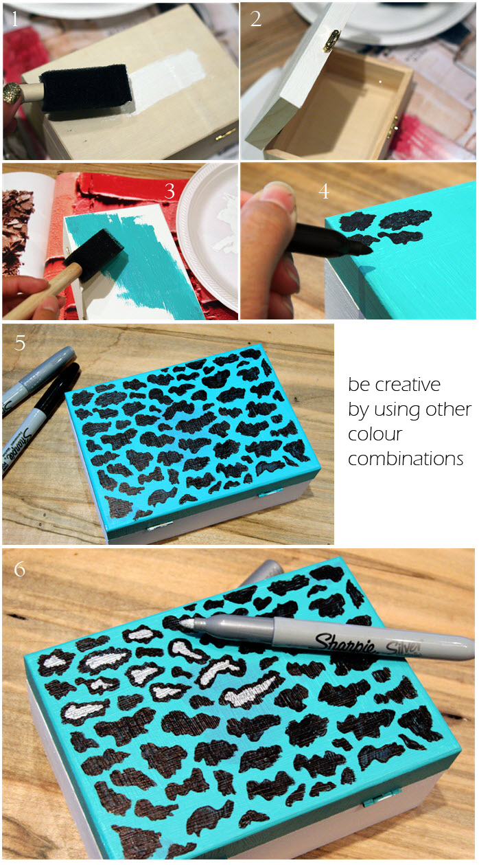 leopard box clutch diy step by step tutorial