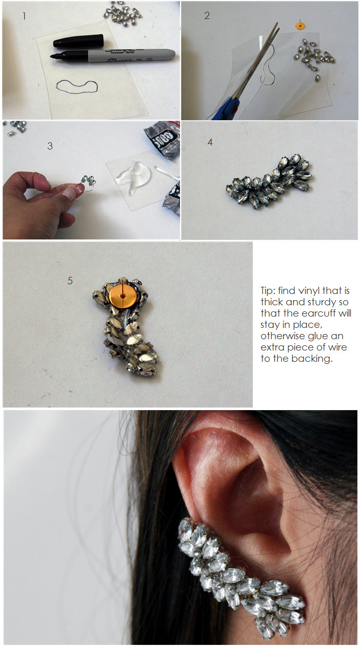diy ear cuff tutorial, diy earring tutorial