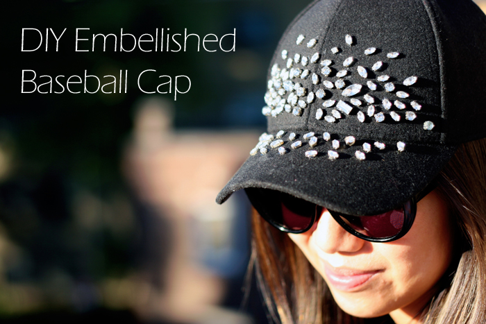 DIY Embellished baseball Cap