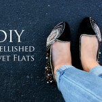 DIY :: Embellished Velvet Flats