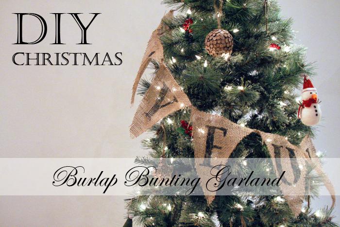 DIY christmas burlap bunting garland