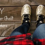 HoliDIY :: Glitter Gold Sneakers (with Girls of T.O.)