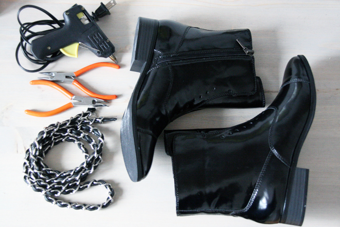 DIY Chanel Chain Boots 1