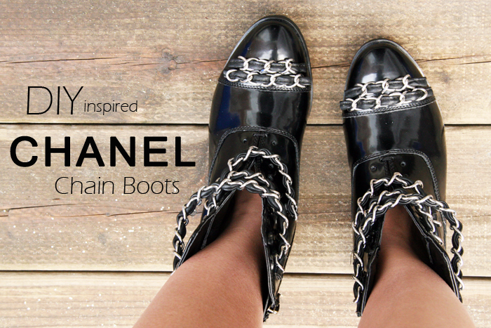 DIY Chanel Chain Boots