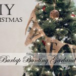 HoliDIY :: Christmas Tree Burlap Bunting Garland (with Girls of T.O.)