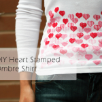 DIY :: Heart Stamped Ombre Shirt