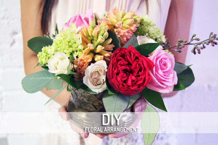 DIY floral arrangement cover