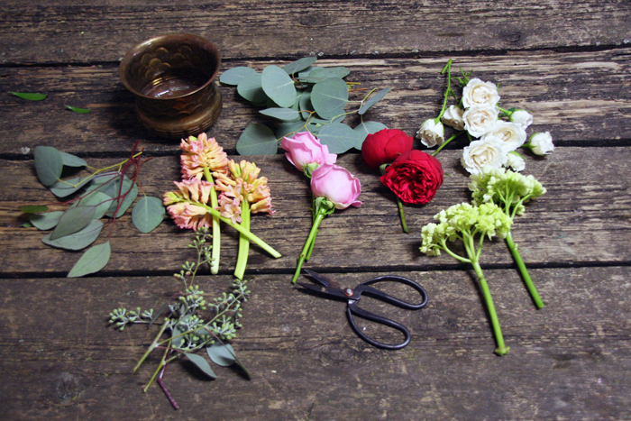 DIY floral arrangement materials