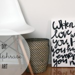 DIY :: Black & White Wordphrase Art