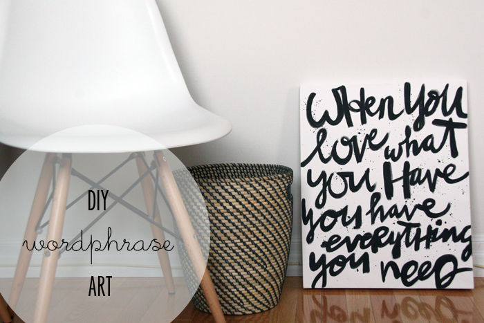 DIY Black and White Word Phrase Art Cover