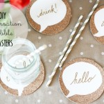 DIY :: Cork Conversation Bubble Coasters