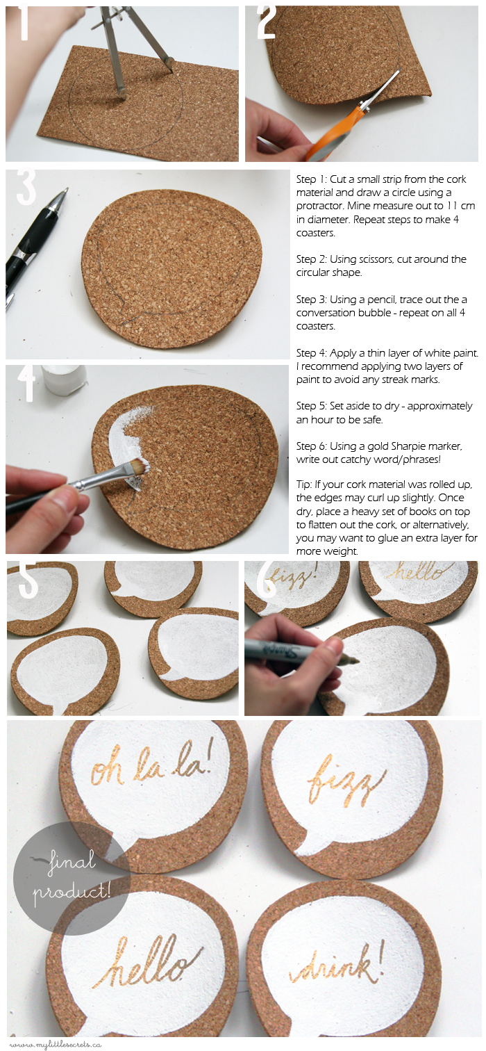 DIY Cork Coasters - step by step