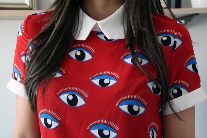 Persunmall Evil Eye Blouse Review
