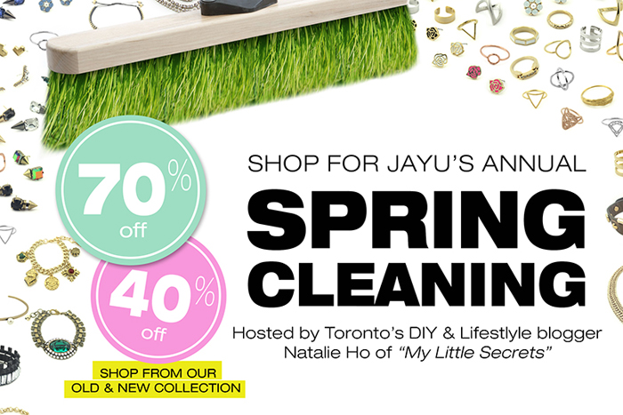Event {and Giveaway} :: Shop for Jayu Annual Spring Cleaning Event