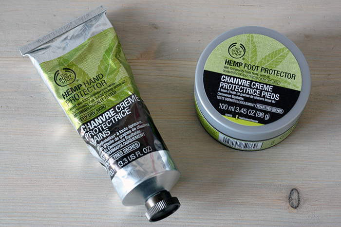 Spring skincare products - hands and feet The Body Shop Hemp Hand and Feet Protector