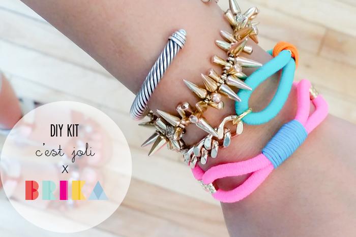 Cest Joli x BRIKA DIY Bracelet Kit