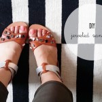DIY :: Basic Jeweled Sandals