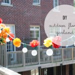 DIY :: Outdoor {thrifted} Floral Garland