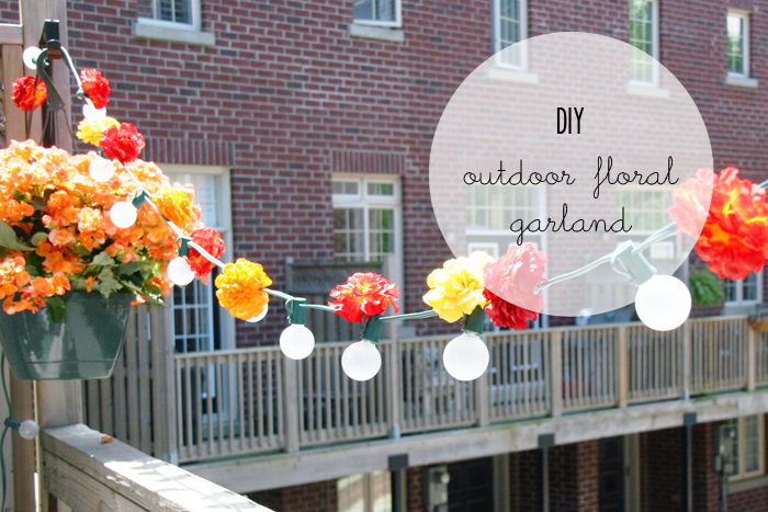 DIY Outdoor Floral Garland Tutorial