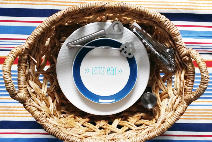 DIY Thrift Store Outdoor Space Picnic Basket